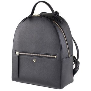 Tory Burch Emerson Black Leather Backpack